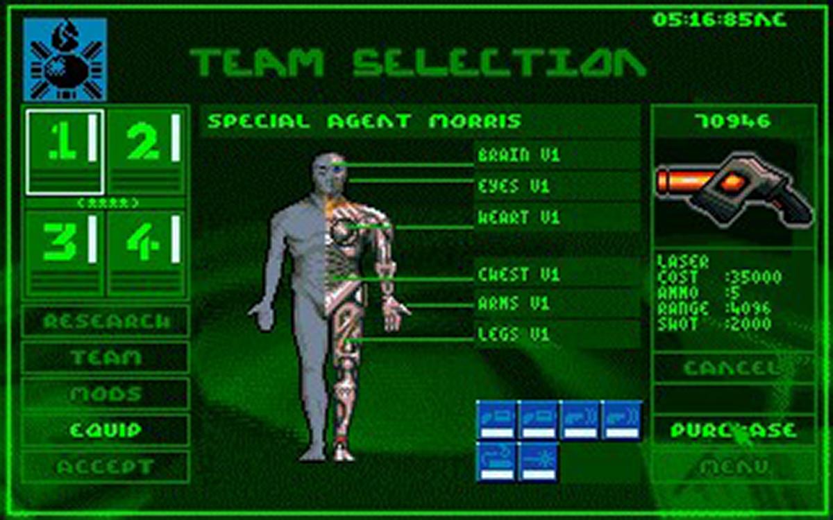 Syndicate cyborg enhancement screen