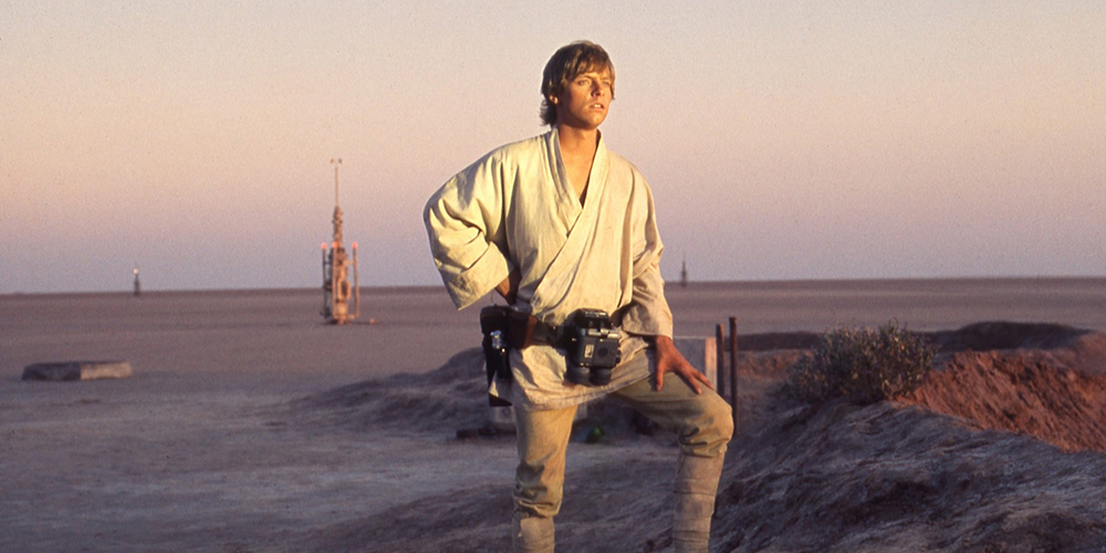 Mark Hamill as Luke Skywalker in A New Hope