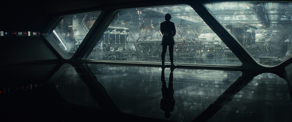 Kylo in a Star Destroyer hangar