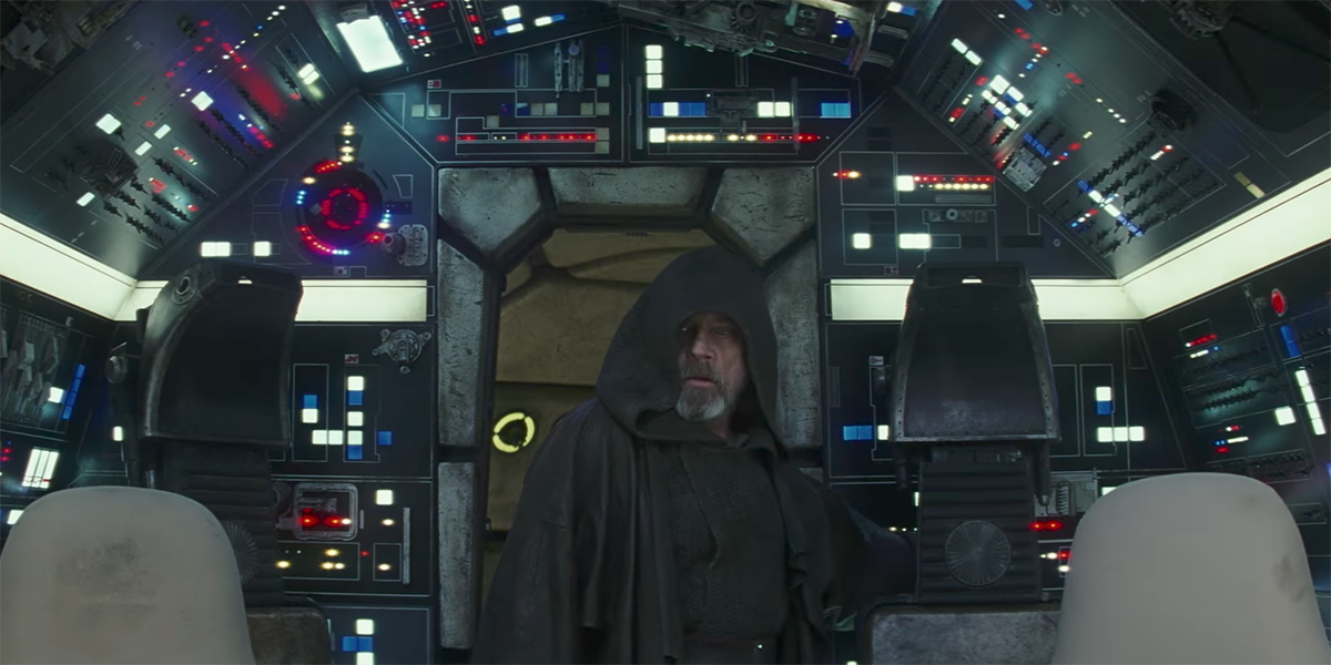 Luke in the Falcon