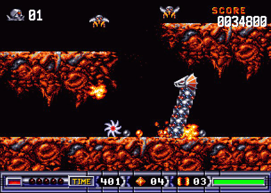 Turrican 2 Buzz Saw Mode