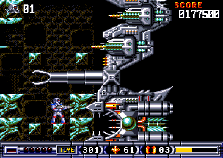 Giant Turrican 2 boss thing