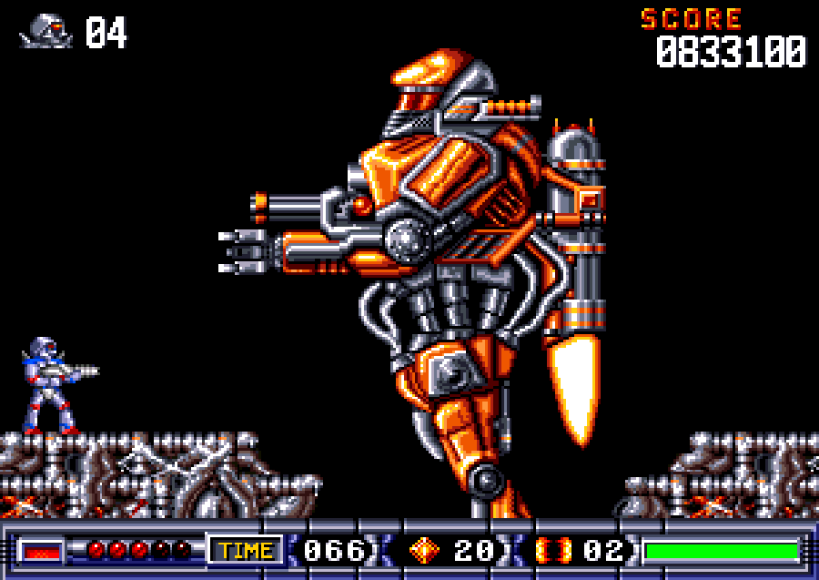 Turrican 2 screen amiga
