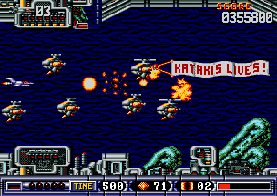 Turrican 2 spaceship screen