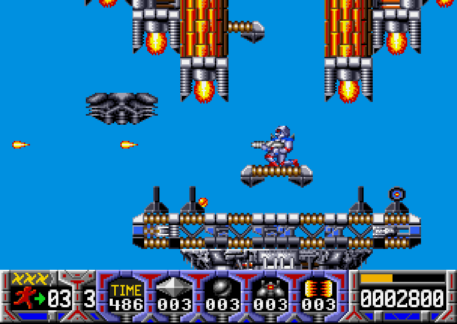 Turrican early screen