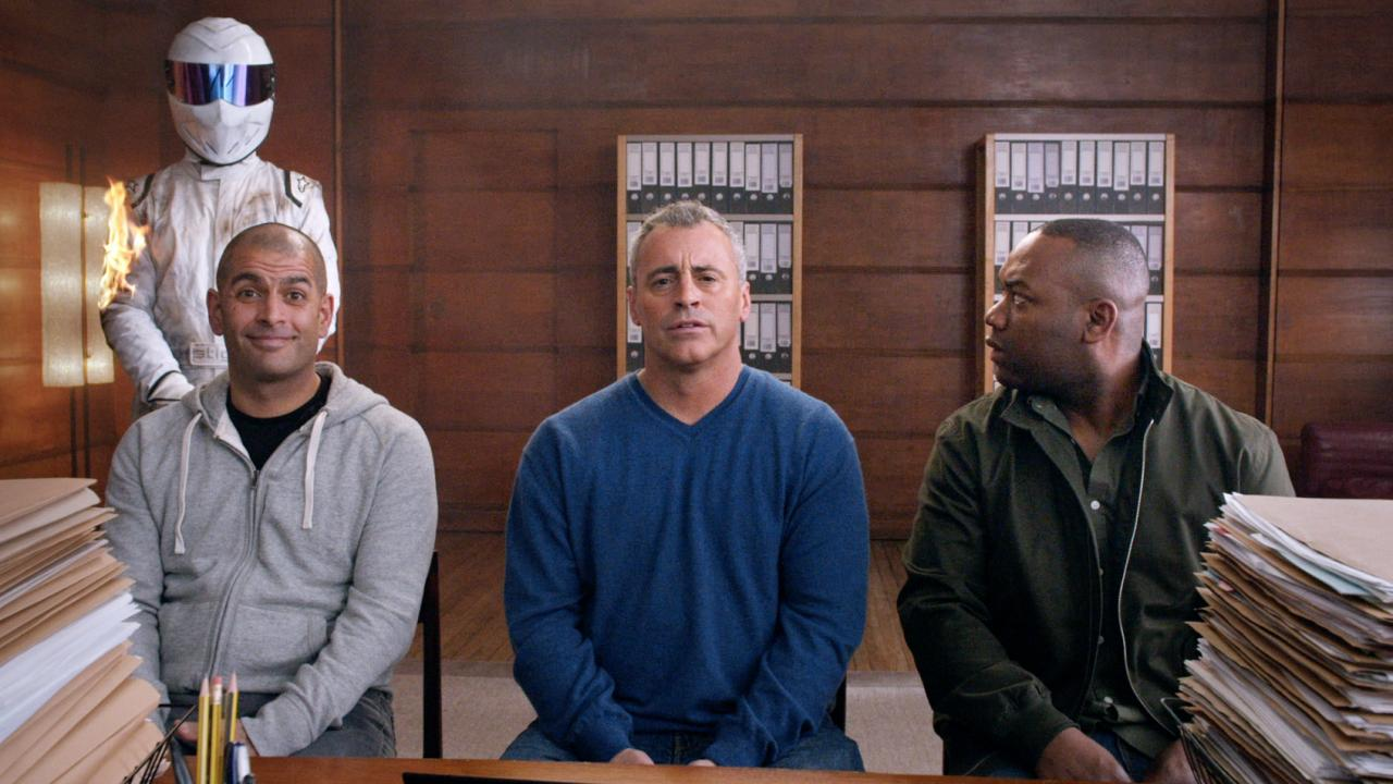 Chris Harris, Matt LeBlanc, Rory Reid and something called The Stig